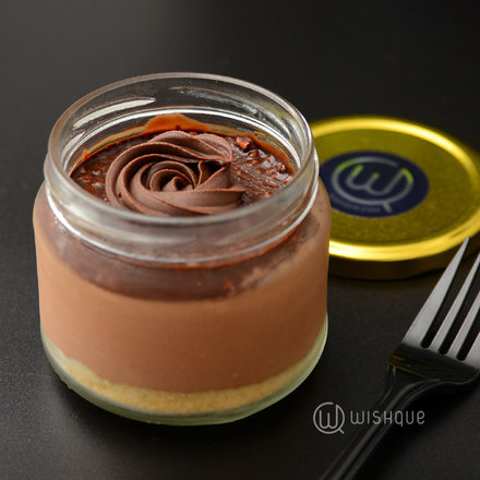 Hazelnut Crunch Chocolate Cheesecake Jar