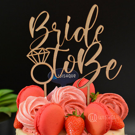Bride To Be Wooden Cake Topper