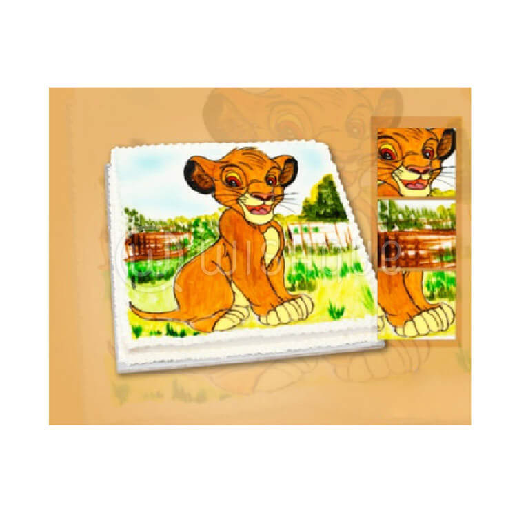 Outstanding Lion King Simba Design Cake Wishque Sri Lankas Premium Funny Birthday Cards Online Bapapcheapnameinfo