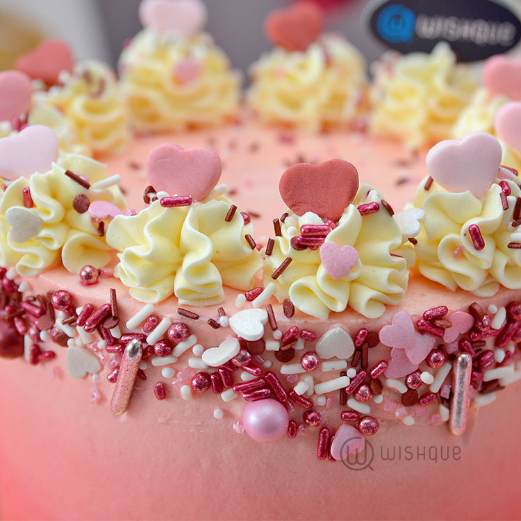 The Vow Sprinkle Buttercream Ribbon Cake