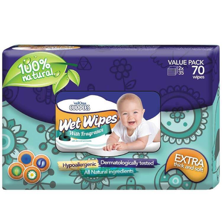 Velona Cuddles Wet Wipes  (70 Pcs)