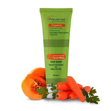 Prevense Carrot & Pumpkin Facial Wash For Mature Dry Skin