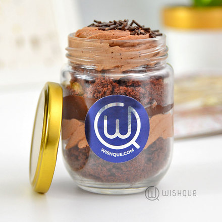 Chocolate Ganache Cake Jar