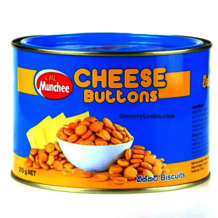 Munchee Biscuit Cheese Button 215g