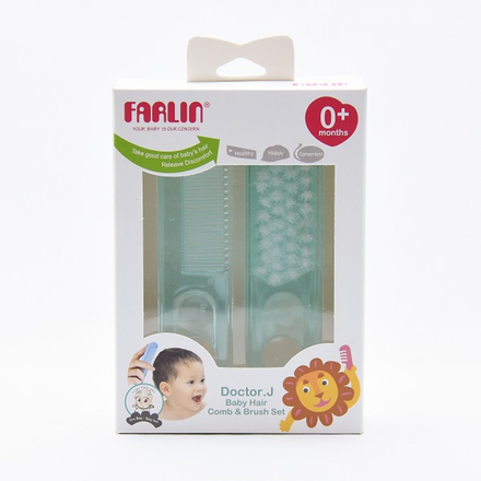 Farlin Comb & Brush Set Blue