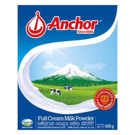 Anchor Full Cream Milk Powder 400g