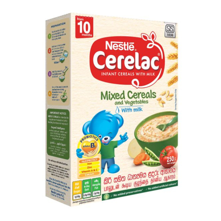 Nestle CERELAC Infant Cereal Mixed Cereals & Vegetables with milk, 250g