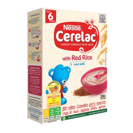 Nestle CERELAC Infant Cereal Red Rice with milk, 250g