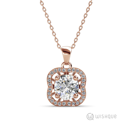 Royal Pledge Pendant With Swarovski Crystals Rose-Gold Plated