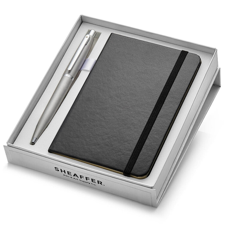 Sheaffer 9400 VFM Ballpoint Pen-Silver With Nickel Plated Trim And A6 Note Book