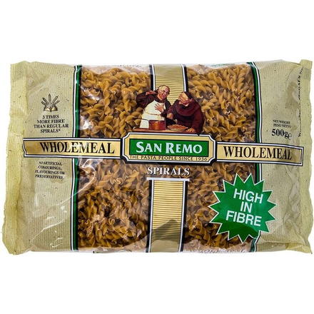 San Remo Pasta Whole Meal Spirals No.131 500g