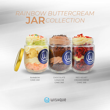 Rainbow Buttercream Jar Collection