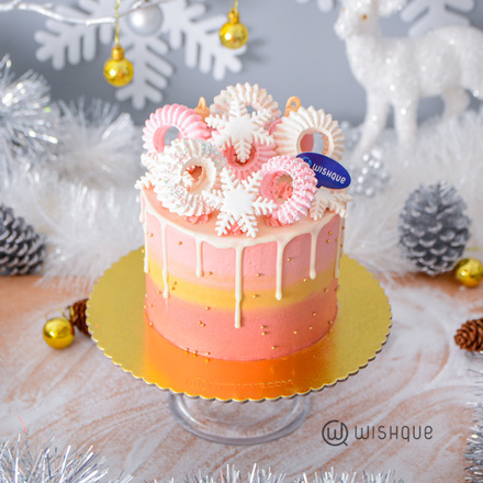 Wish Upon a Magical Star White Chocolate Drip Ribbon Cake