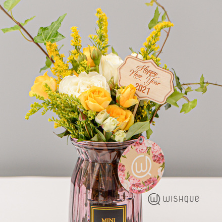 New Year Delight Vase Arrangement