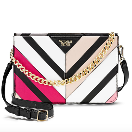 Victoria's Secret Multicolor Chevron Crossbody Bag