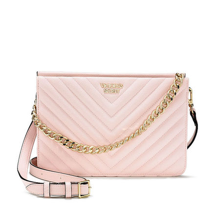 Victoria's Secret Pebbled V-Quilt Crossbody Bag