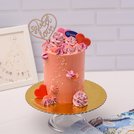 Sweet Love Fiesta Buttercream Mini Tall Ribbon Cake
