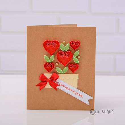 My Love Grows & Grows Greeting Card