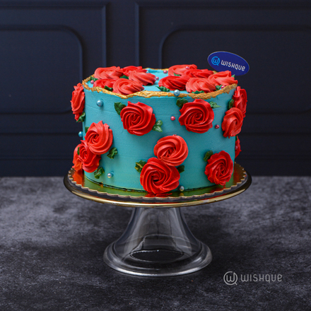 Garden Of English Roses Chocolate Cake