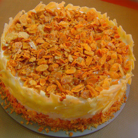 Almond & White Chocolate Cake