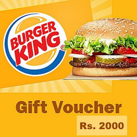 Burger King Gift Voucher Rs 2000