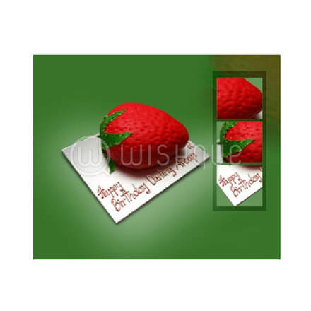 Strawberry Shaped 3D Cake