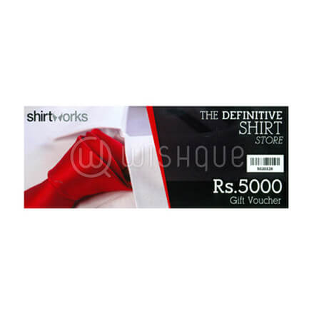 Shirt Works Gift Voucher Rs.5000