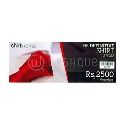 Shirt Works Gift Voucher Rs.2500