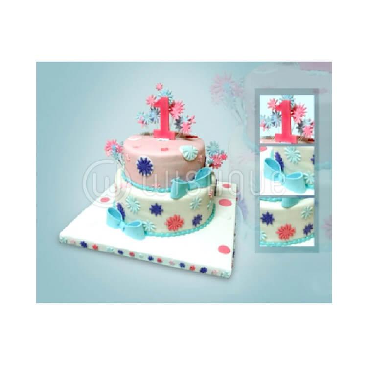 Two Tier 1st Birthday Cake Wishque Sri Lankas Premium Online