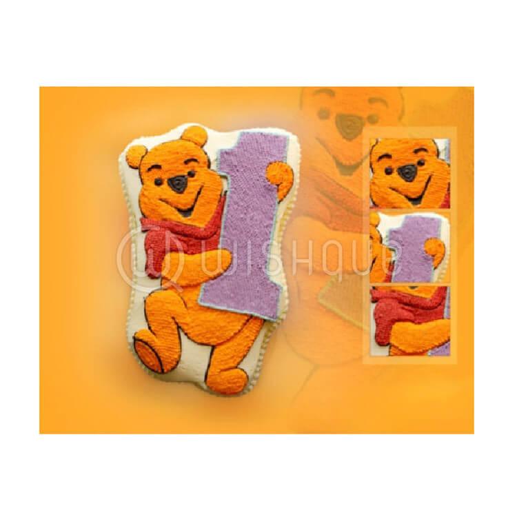 Enjoyable Winnie The Pooh 1St Birthday Cake Wishque Sri Lankas Premium Funny Birthday Cards Online Aeocydamsfinfo